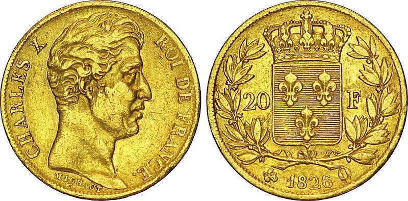Файл:20 франков или Чарльз X.jpg