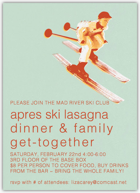Enable images to view MAD RIVER SKI CLUB LASAGNA DINNER