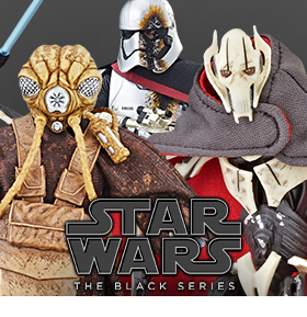 STAR WARS: THE BLACK SERIES GREIVOUS, ZUCKUSS, & PHASMA FIGURES