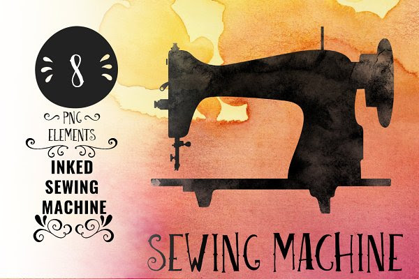 Inked Sewing Machine
