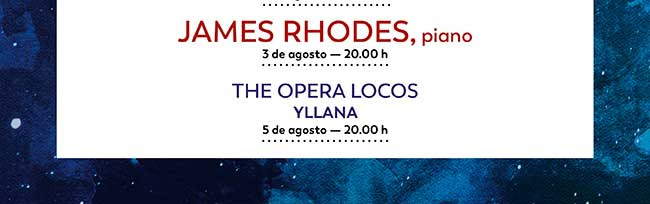 James Rhodes, piano. 3 agosto - 20:00h. / The Opera Locos. Yllana. 5 Agosto- 20:00 h