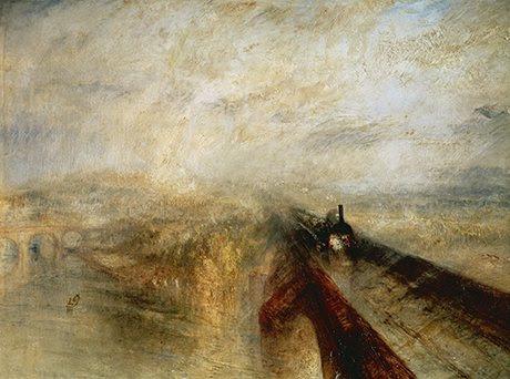 De JMW Turner Lluvia, vapor y velocidad - el Great Western Railway (1844).