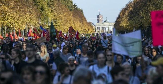 Imágenes de la manifestación. EFE