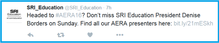 Go to the SRI Education Twitter page