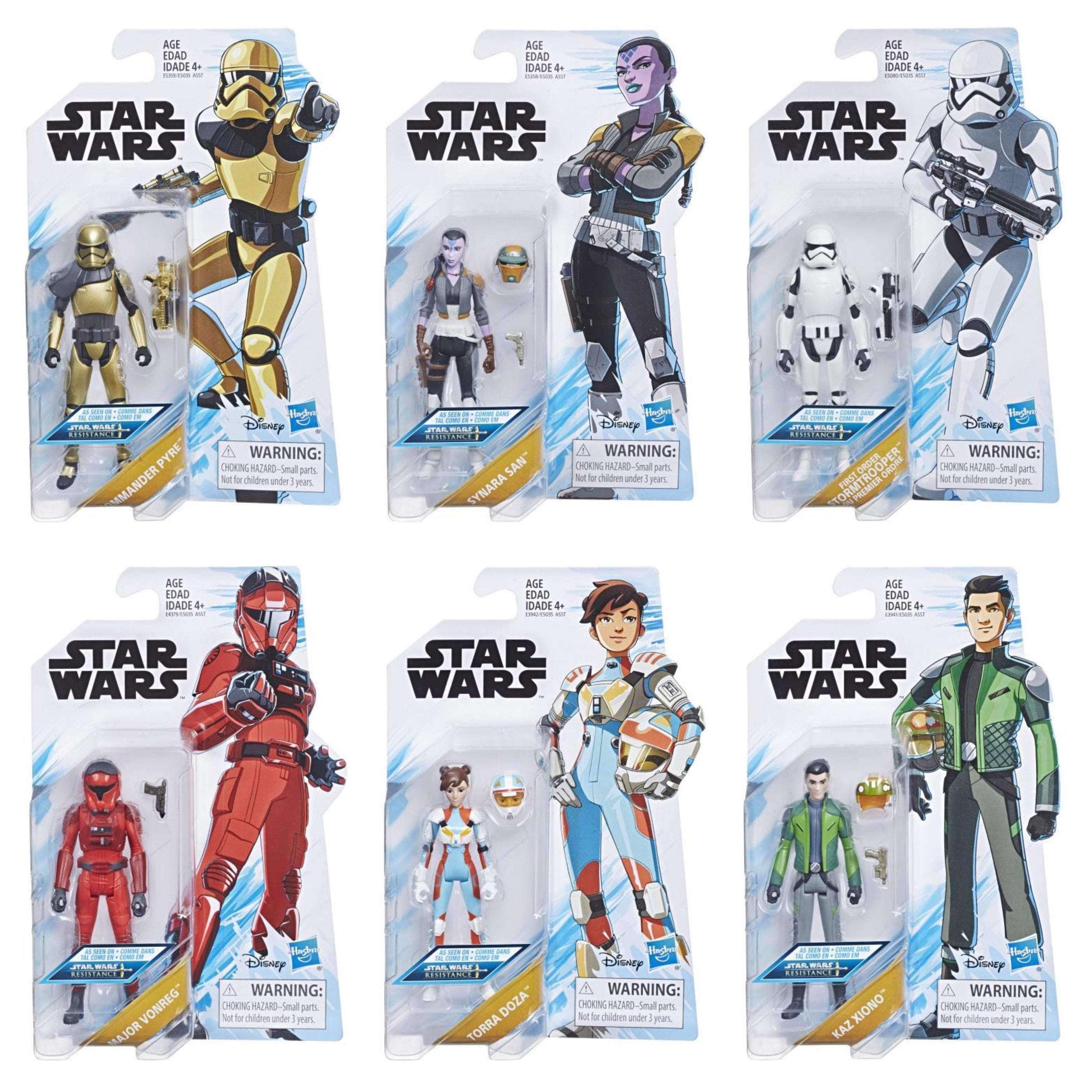 Image of Star Wars Resistance Wave 1 - Set of 6 - FEBRUARY 2019
