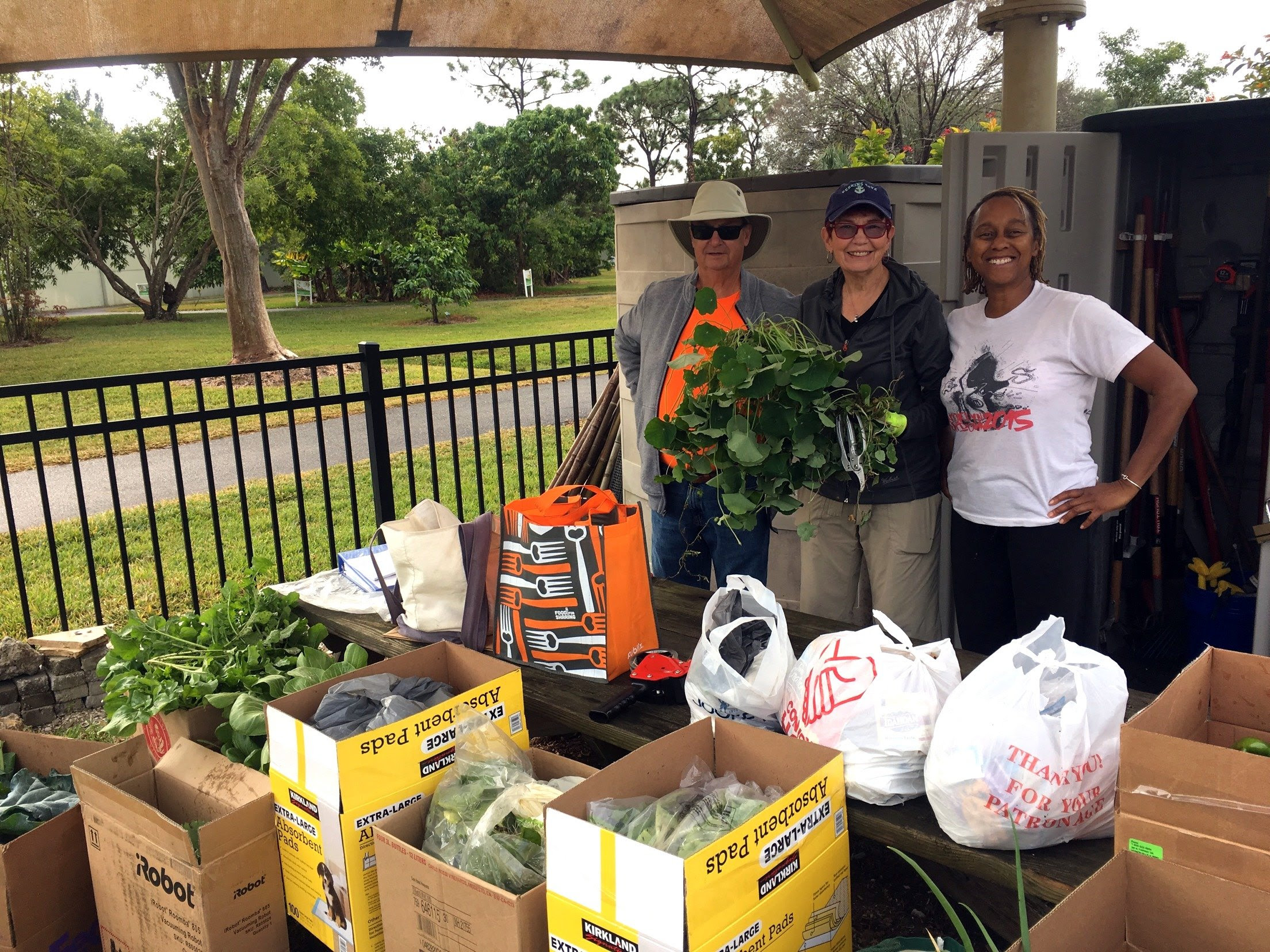 Community Garden at Lakes Park in Fort Myers FL donates food