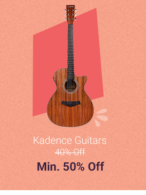 Kadence Guitars at Min.50% Off