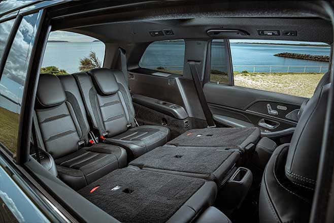 Third-row seating includes cupholders and four USB charge points.