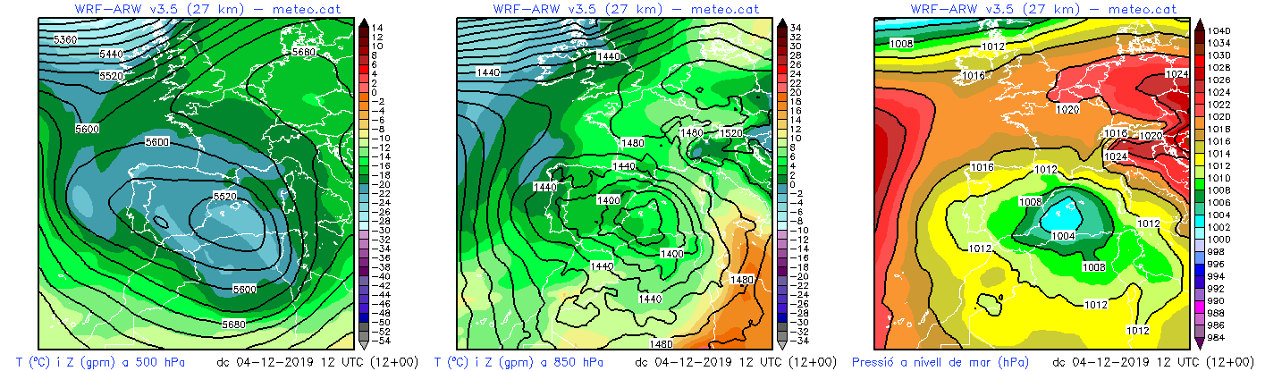 Mapes 500hPa i 850 hPa