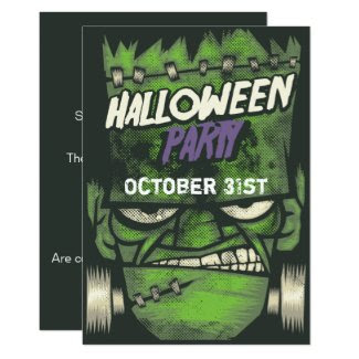 FrankenScare Halloween Invitations