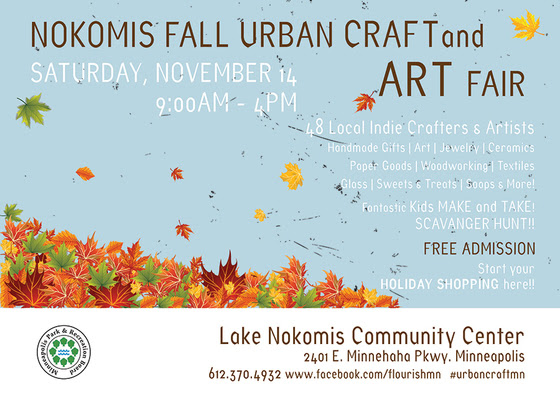 nokomis urban craft fair flyer