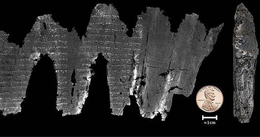 Científicos logran descifrar una copia calcinada del Antiguo Testamento