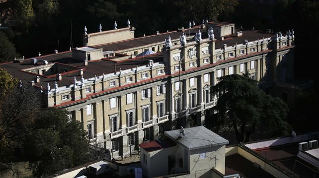 Vista del Palacio de Liria, residencia en Madrid de la duquesa de Alba.