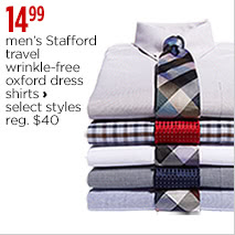Men's Stafford travel wrinkle-free oxford dress shirts