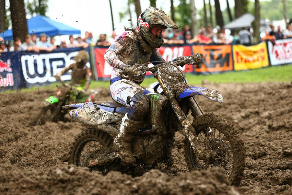 Barcia's goggle-less first moto win vaulted him to his firstoverall victory since 2015.