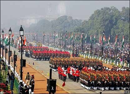 A grand parade was held in India's capital Delhi on the country's 58th Republic Day.