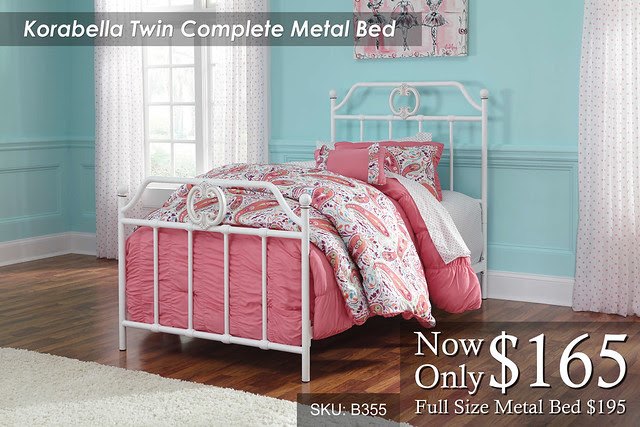 Korabella Twin Complete Metal Bed
