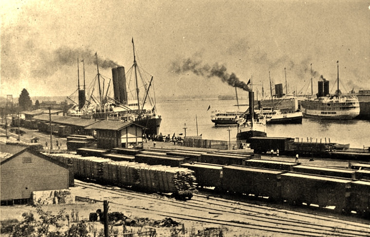 LA Harbor in 1913, from Water and Power