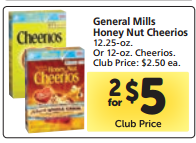 honey nut cheerios sw