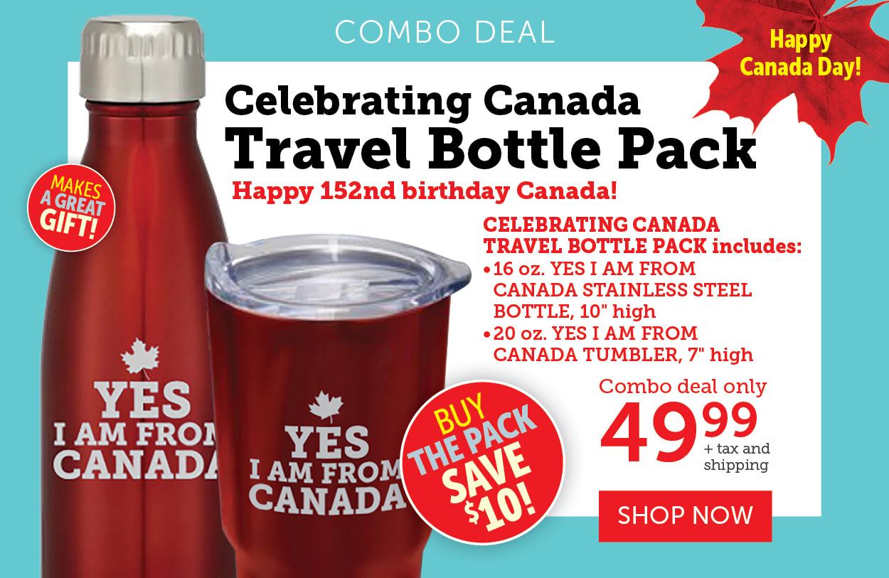 Celebrating Canada | Travel Bottle Pack