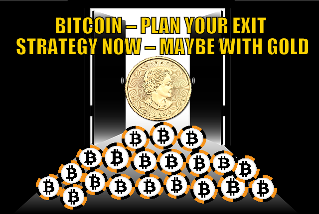Bitcoin – Plan Your Exit Strategy Now – Maybe With Gold