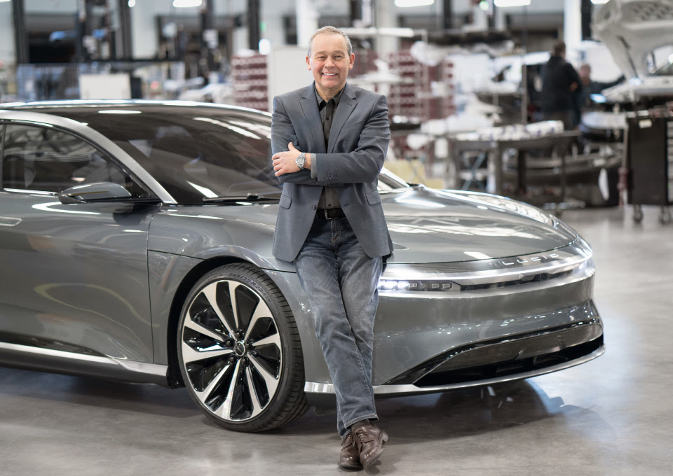 Lucid Air and Peter Rawlinson