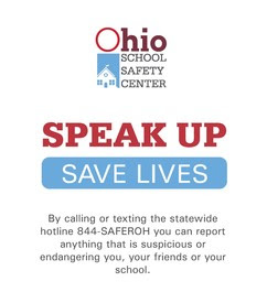 Safer Ohio School Tip Line Banner