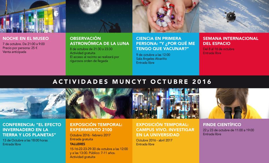 Agenda Octubre MUNCYT