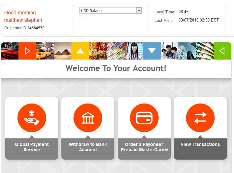 payoneer dashboard