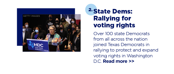 2. State Dems: Rallying for voting rights