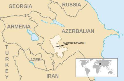 Carta del Nagorno-Karabakh. Wikipedia.