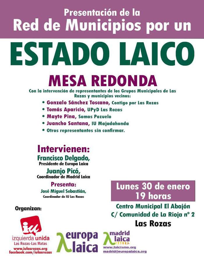 cartel acto red municipios Las Rozas Madrid 2017