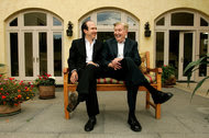 Philippe Dauman, left, and Sumner Redstone in 2007.