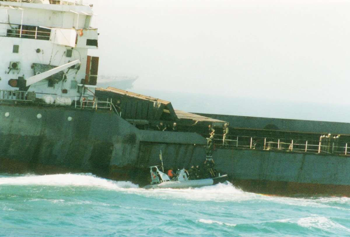 Boarding parties in the Persian Gulf