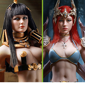 TBLEAGUE PRINCESS OF EGYPT & LADY BAT 1/6 SCALE FIGURES
