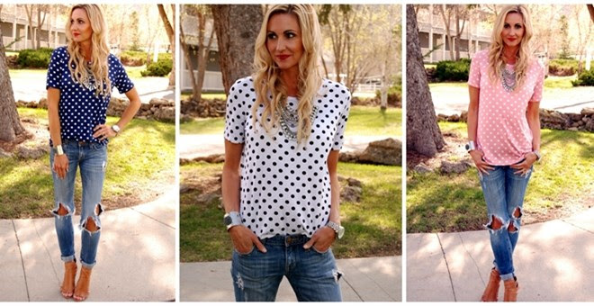 *HOT* Perfect Polka Dot Tee! #...