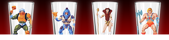 MASTERS OF THE UNIVERSE PINT GLASSES