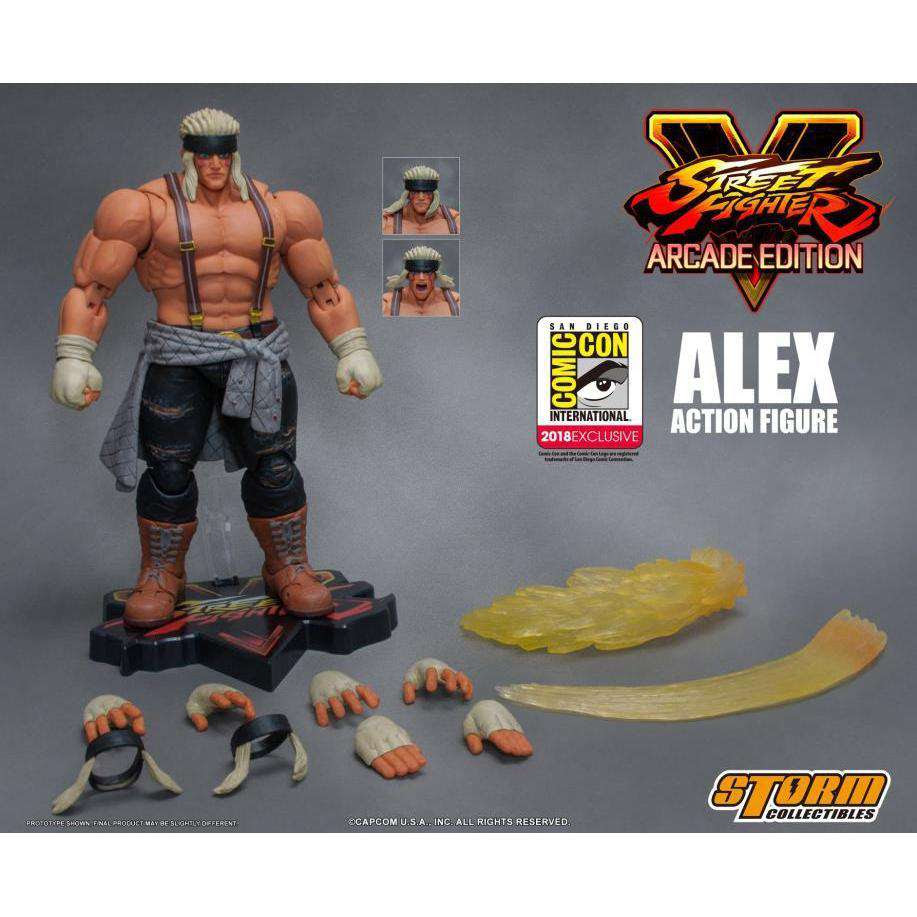 Image of Street Fighter V Alex (Special Edition) 1/12 Scale SDCC 2018 Exclusive Action Figure