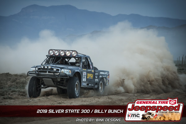 Jeepspeed, Billy Bunch, General Tire, KMC Wheels, Off Road Racing, Silver State 300, Bink Designs