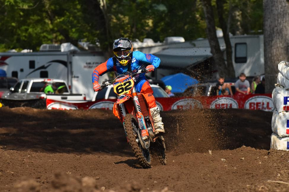 Mitchell Falk dominated the 250 B Limited class with a three moto sweep.Photo: Ken Hill