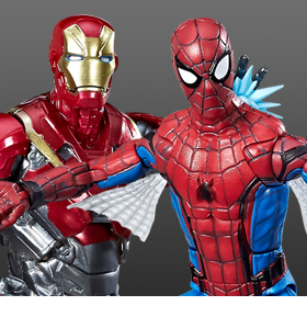 SPIDER-MAN: HOMECOMING MARVEL LEGENDS SPIDER-MAN & IRON MAN TWO-PACK