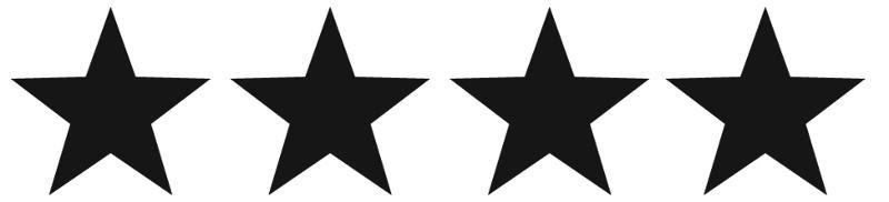 4 stars black