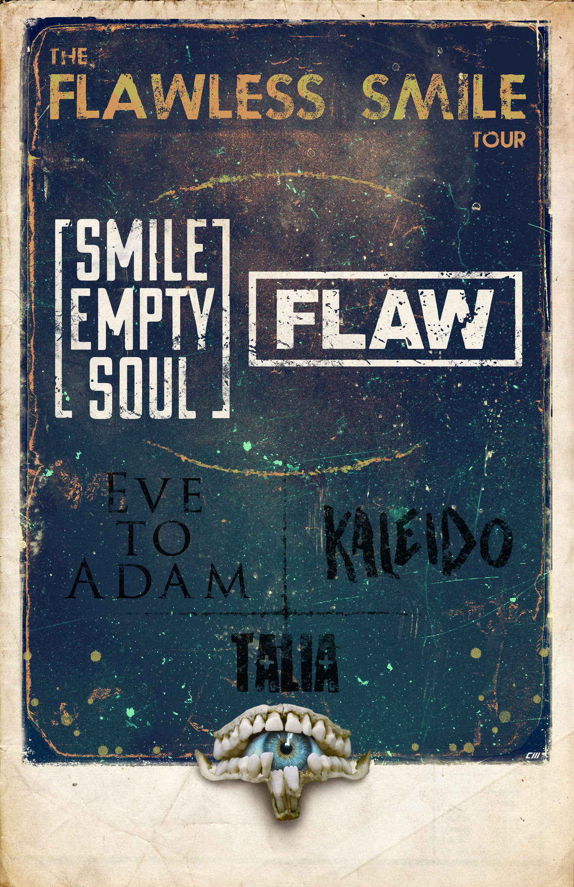 smile empty soul tour poster