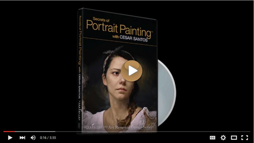 Secrets of Portrait Painting with Cesar Santos, Streamline Art Video on YouTube