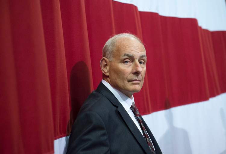 White House Chief of Staff John F. Kelly attends President Trump's rally in West Virginia. (Saul Loeb/Getty Images)