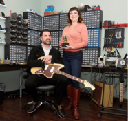 Jamie Stillman and Julie Robbins, owners of EarthQuaker Devices