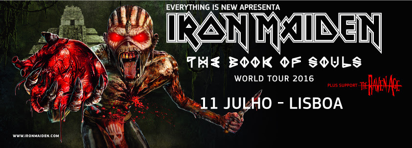 Iron Maiden - The Book of Souls World Tour - 11 de Julho no Meo Arena