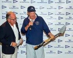 Tom Ehman- wins Silver Shovel Trophy- J/105 Masters sailing off San Diego, CA