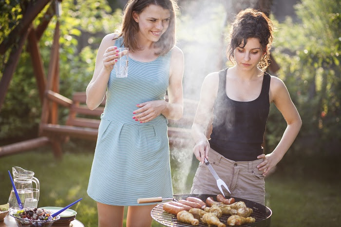 Image of women grilling