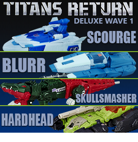TRANSFORMERS DELUXE TITANS RETURN WAVE 1